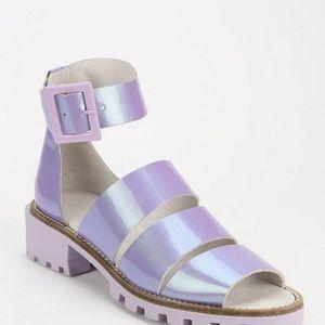 Purple Miista luminous Sandals!